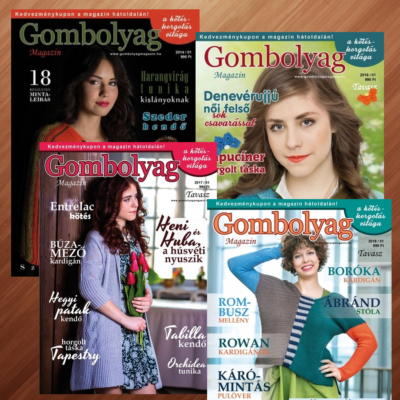 Gombolyag Magazin - Tavaszi számok (2014/01, 2016/01, 2017/01, 2018/01) - 4db