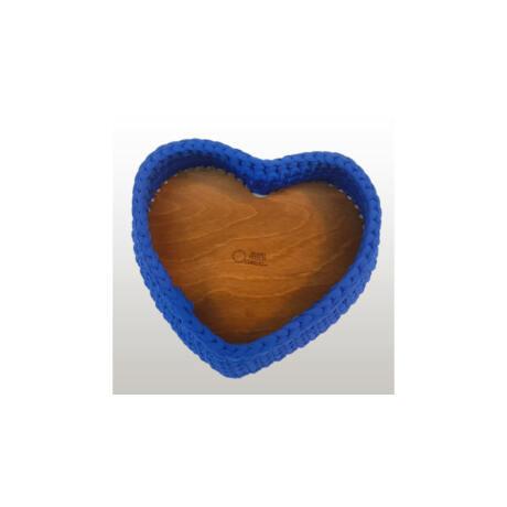 Szív 22 cm-es horgolható faalap