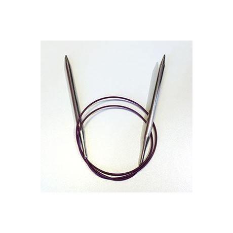 Knitpro Nova rövid fém kötőtű 50-es damillal