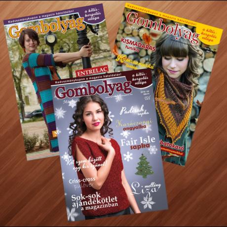 Gombolyag Magazin - Őszi - Téli vegyes II. (2015/03, 2016/04, 2018/03) - 3db