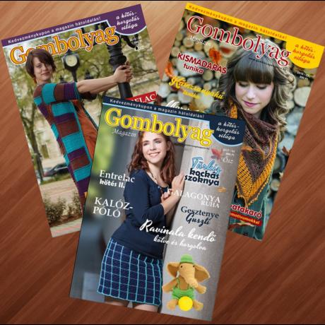 Gombolyag Magazin - Őszi számok (2015/03, 2017/03, 2018/03) - 3db