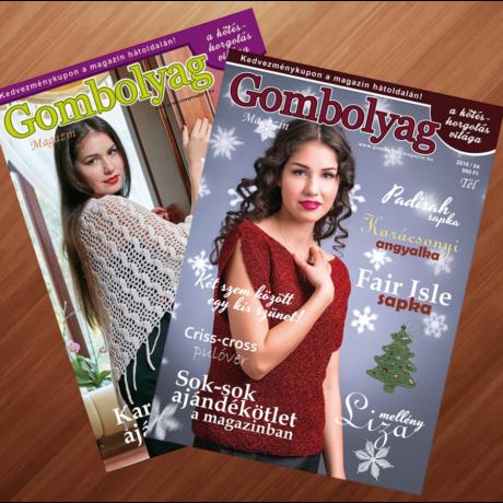 Gombolyag Magazin - Téli számok (2016/04, 2017/04) - 2db