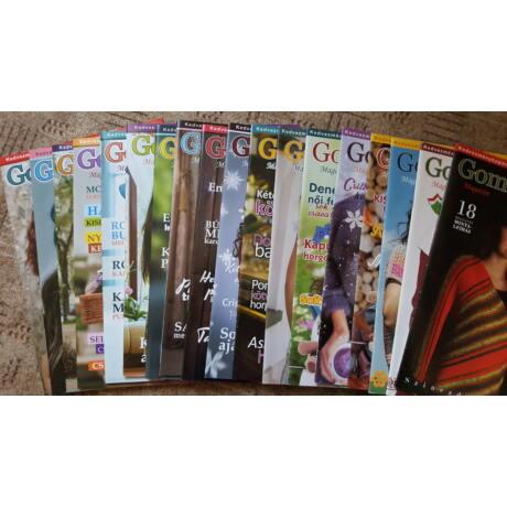 A Gombolyag Magazin eddig megjelent 17 száma (kivéve 2016/02)