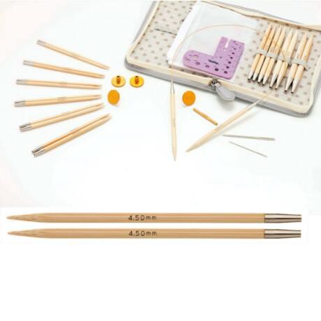 Tulip CarryC Long cserélhető végű bambusz kötőtű szett